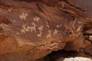 Petroglyphs, Arches National Park, Utah